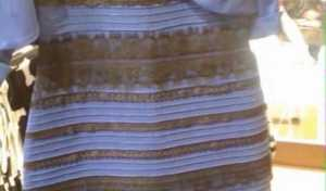 Explicação do vestido azul e preto... ou branco e dourado